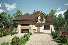 Projekt domu E-GL 1042 Willa Prowansja II