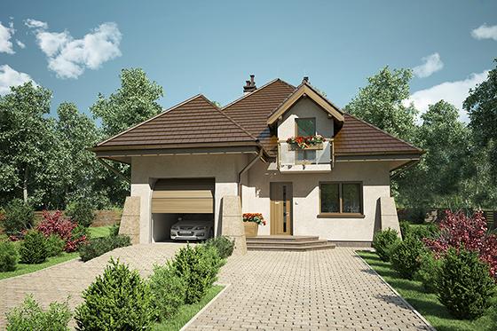 Projekt domu S-GL 1042 Willa Prowansja II