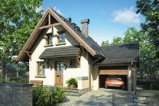 Projekt domu E-GL 105 Piotruś Pan