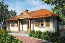Projekt domu E-GL 106 Krasnal