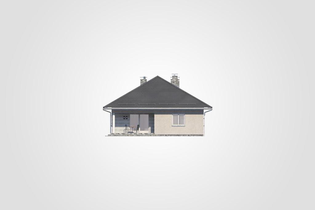 Elewacja domu S-GL 1064 Cyraneczka