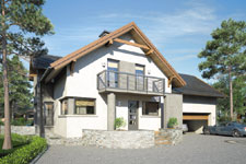 Projekt domu E-GL 1067 Agawa V