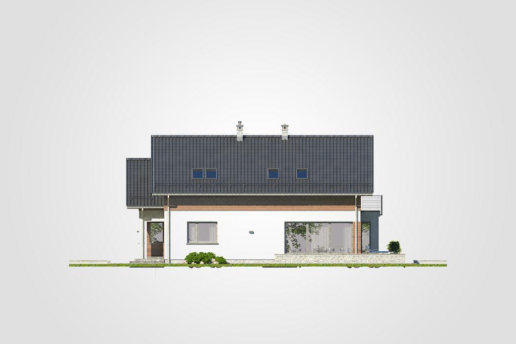 Elewacja domu S-GL 1145 Merlot