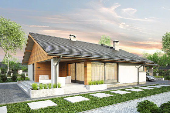 Projekt domu S-GL 1155 Kos II