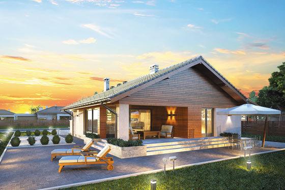 Projekt domu S-GL 1171 Pliszka