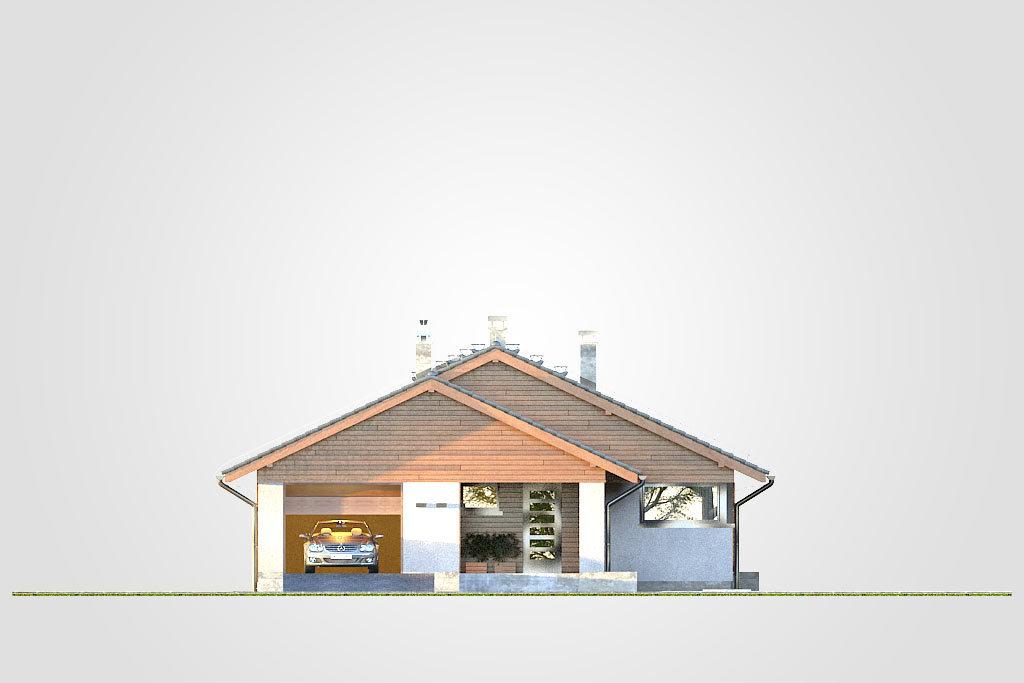 Elewacja domu S-GL 1171 Pliszka