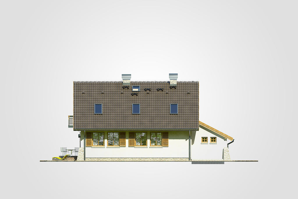 Elewacja domu S-GL 238 Oliwia