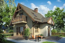 Projekt domu E-GL 254 Szarotka