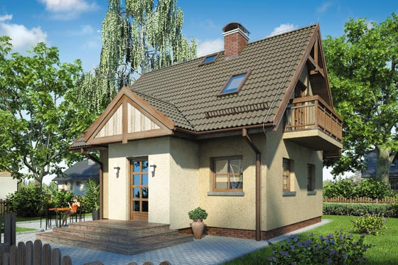 Projekt domu S-GL 254 Szarotka