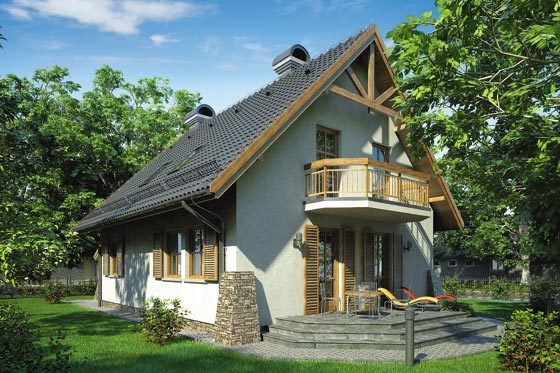 Projekt domu S-GL 355 Bajkowa Chata