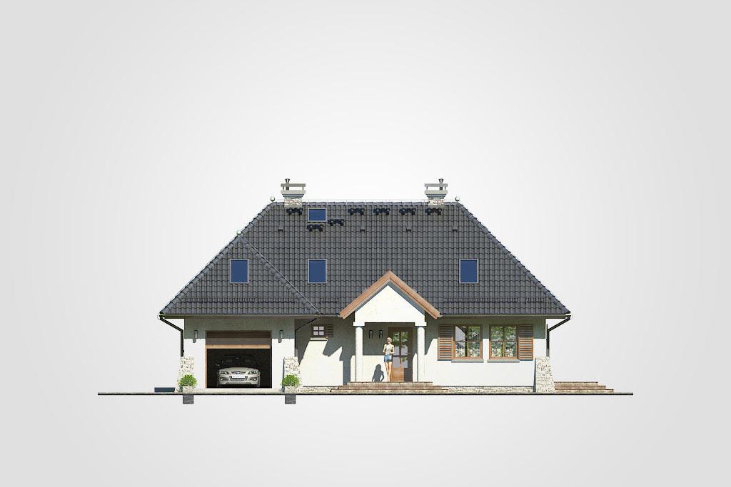 Elewacja domu S-GL 362 Romantyk