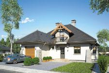 Projekt domu E-GL 403 Willa Jawor