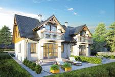 Projekt domu E-GL 407 Doborowy Duet