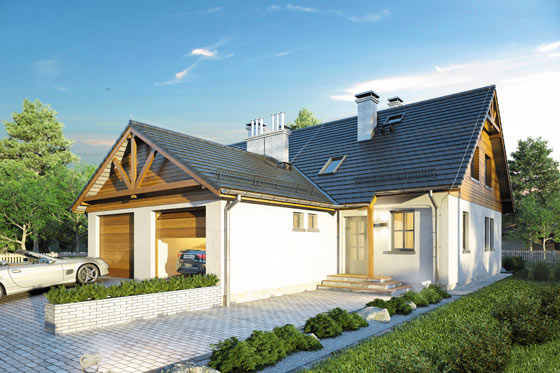 Projekt domu S-GL 407 Doborowy Duet