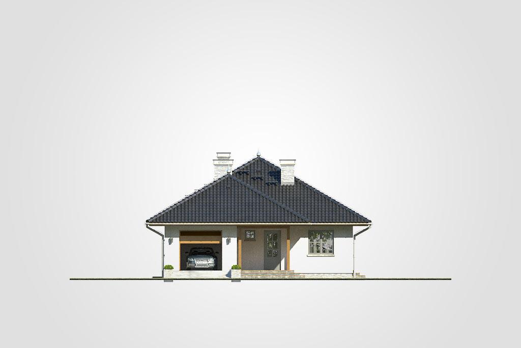 Elewacja domu S-GL 418 Perkoz