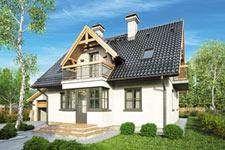 Projekt domu E-GL 428 Kwiatuszek