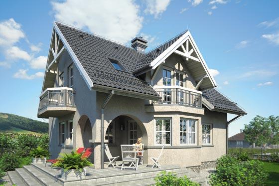 Projekt domu S-GL 454 Koralik