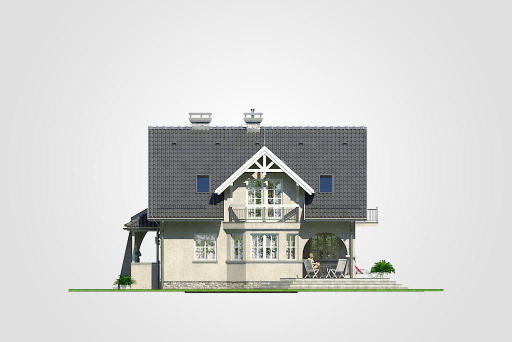 Elewacja domu S-GL 454 Koralik