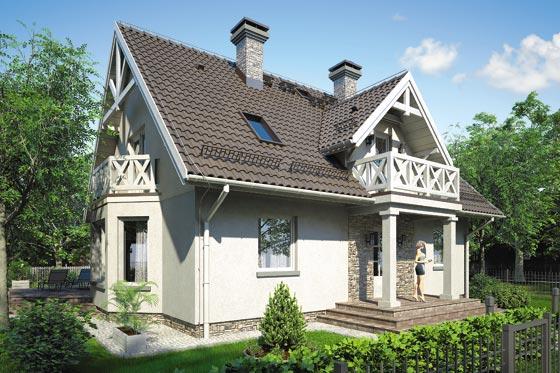 Projekt domu S-GL 458 Fiołek