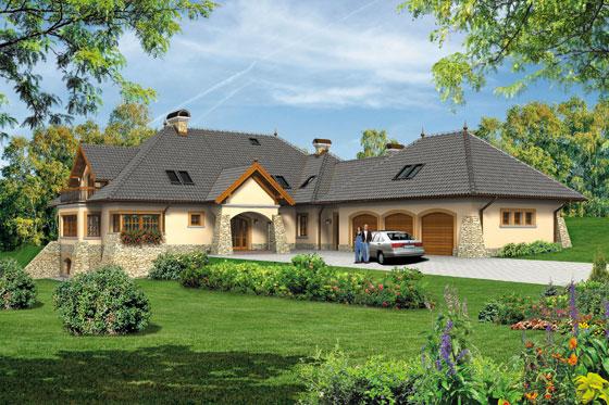 Projekt domu S-GL 500 Willa Panorama