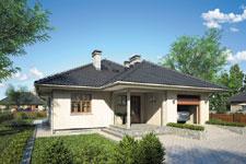 Projekt domu E-GL 505 Bursztyn II