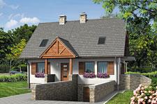 Projekt domu E-GL 542 Rumiankowa Chata Bis