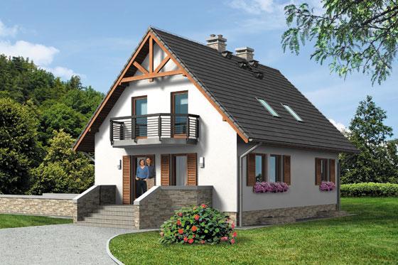 Projekt domu S-GL 542 Rumiankowa Chata Bis