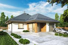 Projekt domu E-GL 555 Modelowy