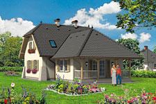Projekt domu E-GL 68 Paprotka