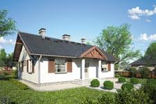 Projekt domu E-GL 69 Dworeczek