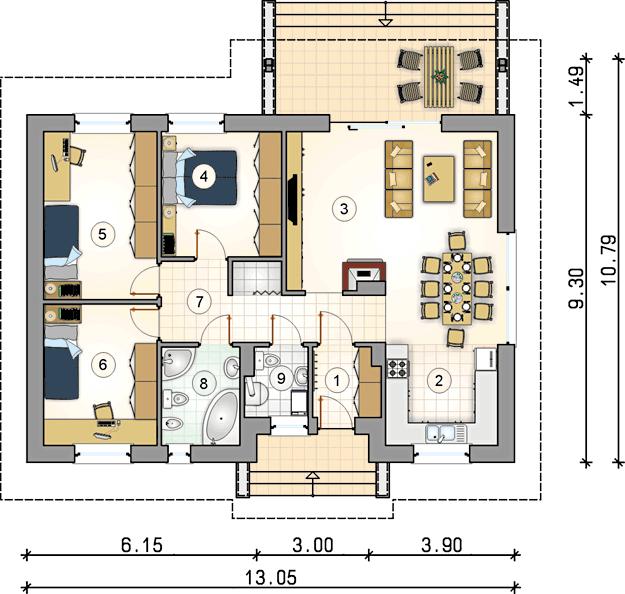 Rzut kondygnacji S-GL 766 Neo II