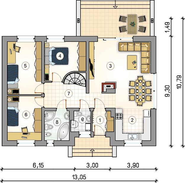 Rzut kondygnacji S-GL 830 Neo IV