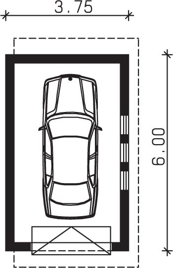 Rzut garażu S-Z 14