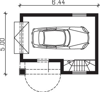 Rzut garażu S-Z 2